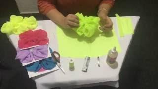 Youtube Moño Globo En Tela Paso A Paso Easy Fabric Hair Bow