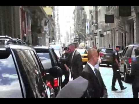 Activists confront NYC mayor over killer cops  8/8/14         (Brutality)