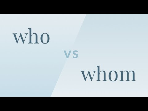 Merriam-Webster Ask the Editor - Who vs. Whom
