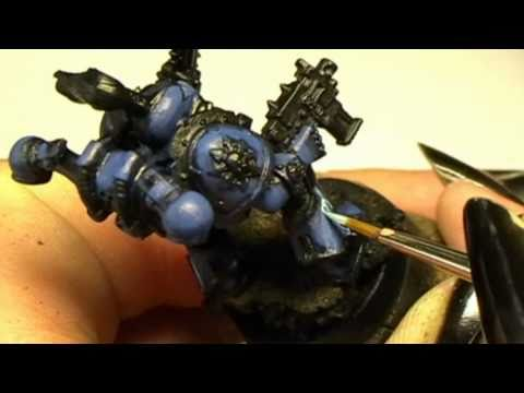 How to paint a Nightlord Chaos Space Marine part 1