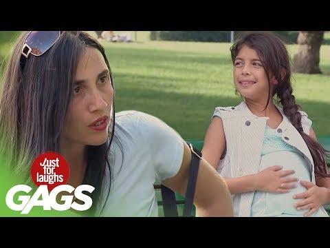 الفيديو : اضحك أصغر فتاة حامل تثير استغراب المارة