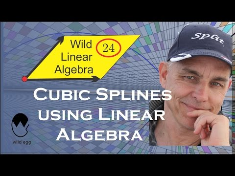WildLinAlg24: Cubic splines (Bezier curves) using linear algebra