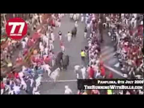 8th July 2008 - The running of the bulls in Pamplona
