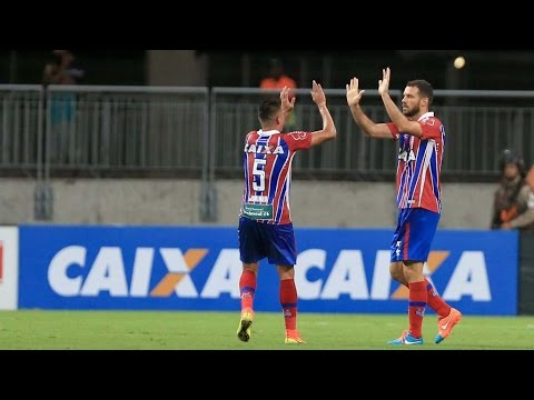 Veja os gols de Bahia 3 x 0 Galícia