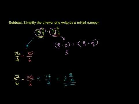 Sottrazione di Numeri Misti 2