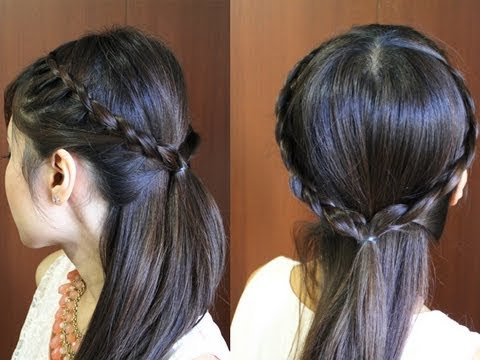 تسريحة شعر بسيطة و انيقة