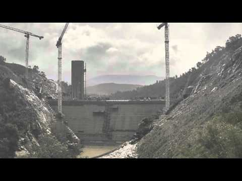 Cotter Dam 2012 Flood Overtopping Timelapse (11:30am - 10pm)