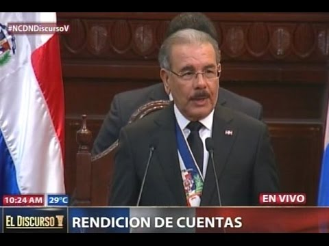 Discurso del presidente Danilo Medina en Rendición…