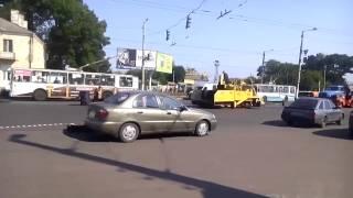 Житомир: ремонт дороги на улице Киевской