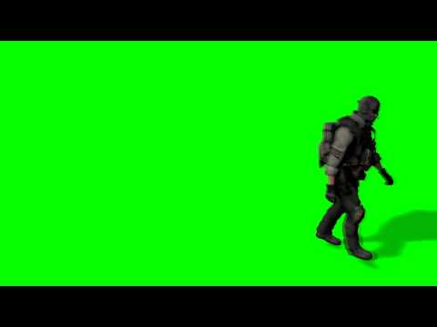 Ghost model walking # Green Screen