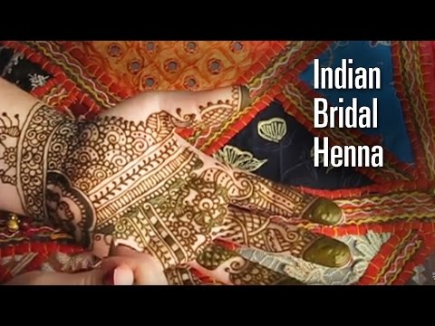 How To Do an Indian Bridal Henna - How to draw a traditional Indian mehndi design