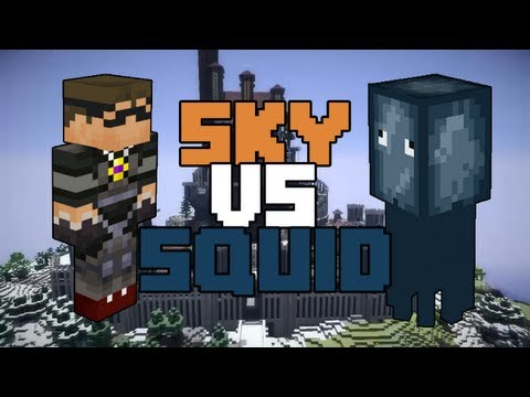 Minecraft: SkyDoesMinecraft vs. Squid - PART 1