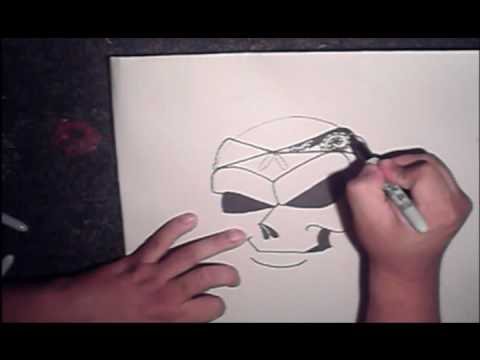 Drawing a Skull with spraycans