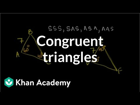 Finding Congruent Triangles
