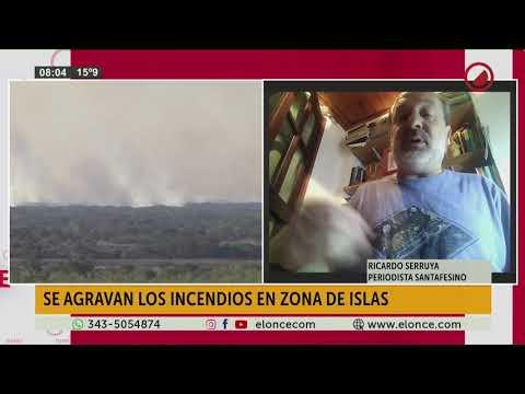 Se agravan los incendios en la zona de islas de Santa Fe