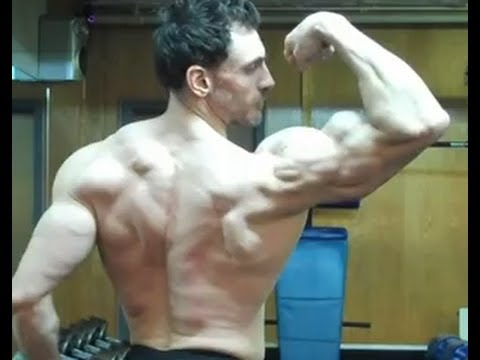 Back and Biceps Muscles Posing- Natural Bodybuilder and Trainer Victor Costa