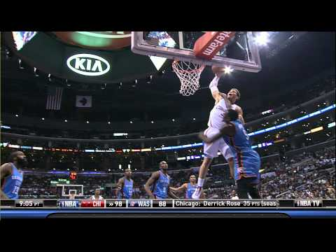 Blake Griffin Monster Dunk On Kendrick Perkins (HD 2012-01-30)