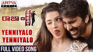 Yenniyalo Yenniyalo Full Video Song | Raja The Great