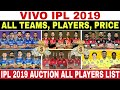 IPL 2019 AUCTION : FINAL LIST OF ALL 60 PLAYERS & PRICE WHO SOLD OUT | MI RR CSK KKR SRH KXIP DC RCB