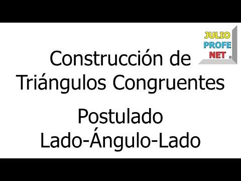 Construcción de un triángulo congruente a uno dado usando el postulado LAL
