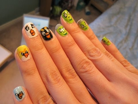 Angry Birds Nail Art -dCZZzew1UfQ