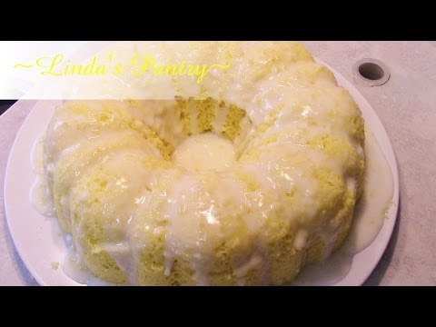 ~Lemon Cake With A Pudding Filling With Linda's Pantry~