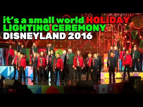 It's a Small World Holiday FULL Lighting Ceremony for Christmas 2016 at Disneyland - default