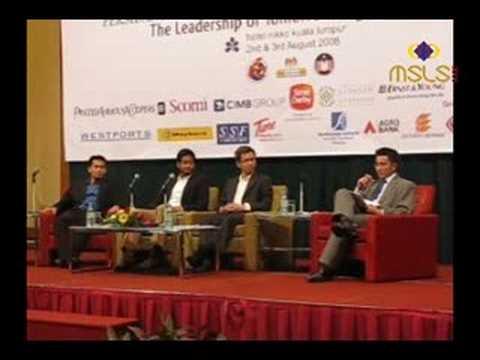 MSLS 2008: Young YBs Forum (Part 1/13) khairy jamaluddin tony pua nik nazmi