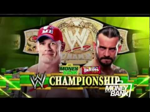 WWE Money In The Bank 2011 Match Card: CM Punk vs. John Cena WWE Championship Match Promo (HD)