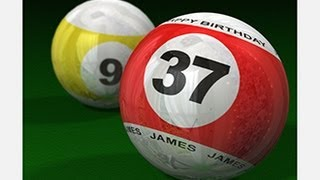 Photoshop CS6 Extended: 3D - How to Make 3D BILLIARD BALLS with Custom TEXT
