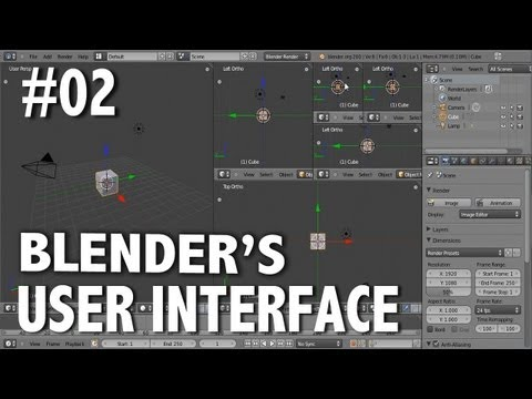 Blender 2.6 Tutorial 02 - Customizing and Saving the UI