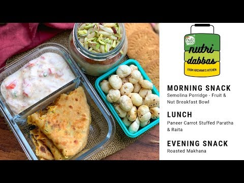 Healthy Office Lunch Box Recipes - Episode 8 - Nutri Dabba by Archana's Kitchen