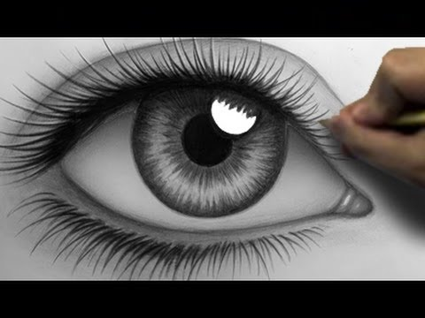 Realistic Eye Drawing Tips (Time Lapse)