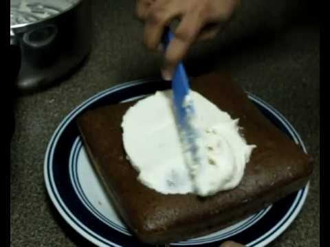 Eggless Chocolate Cake (with butter cream frosting)