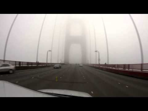 Time-lapse driving across the Golden Gate Bridge.
