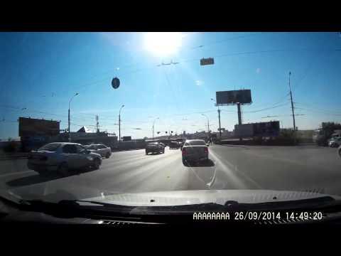 Авария в Новосибирске 27 09 2014