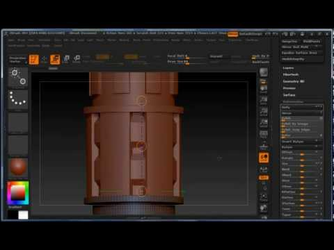 Zbrush 4R4 Tutorial: Creating Curved MultiMesh Brush (3 of 4)