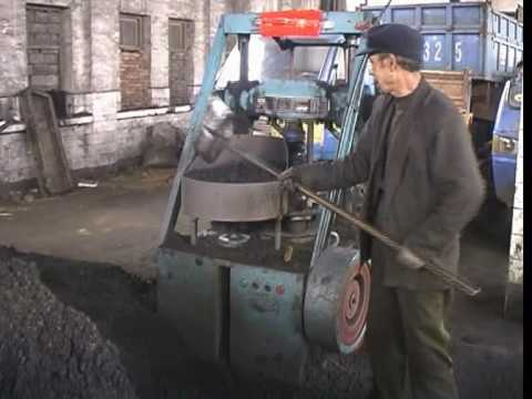 China, Coal Dust Briquet Production