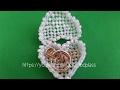 Обьемная шкатулка-сердце из бисера. Плетение из бисера. Бисероплетение. Beading