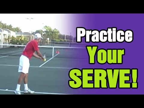 Tennis Lessons - How To Practice Your Serve | Tom Avery Tennis 239.592.5920