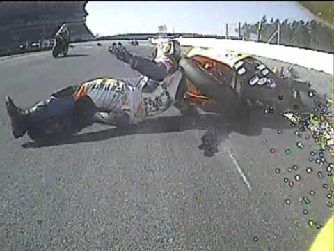 Crash IDM Superbike Marc Wildisen