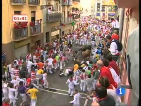 Encierro San Fermin Pamplona El tercer encierro de San Fermín 2009