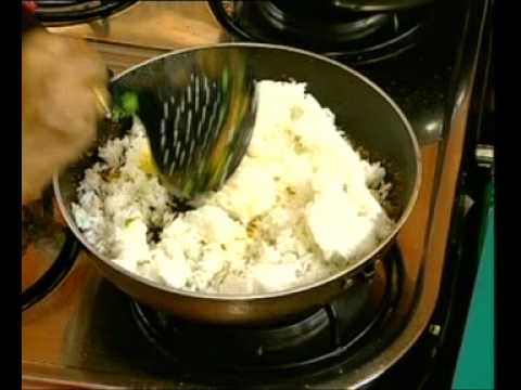 Andhra Recipes - Prawns Fried Rice - Khajoor Halwa - 02