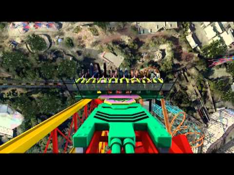 Lex Luthor Drop of Doom Six Flags Magic Mountain POV B-Roll 2012 Drop Tower Superman