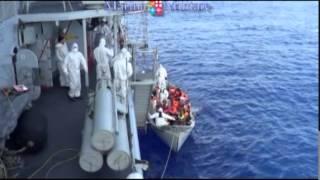 Taranto: Sbarco migranti Nave Fasan 4 agosto