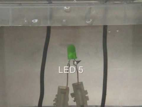 6 under water  LED  destructive tests