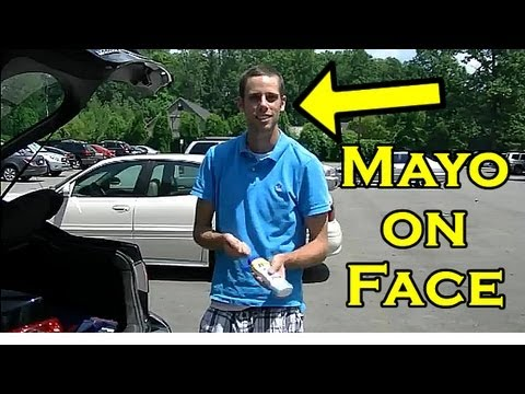 Funny Prank - Mayonnaise Sunblock Prank