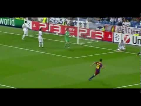 Real Madrid Vs Barcelona 2011 UEFA Champions League 0-2 Lionel Messi goal (HD and English)