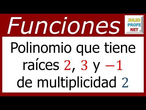 Determinar un polinomio si se conocen sus ceros