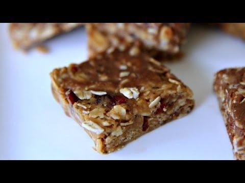 NO BAKE GRANOLA BARS - Easy Recipe - 3 Ingredients